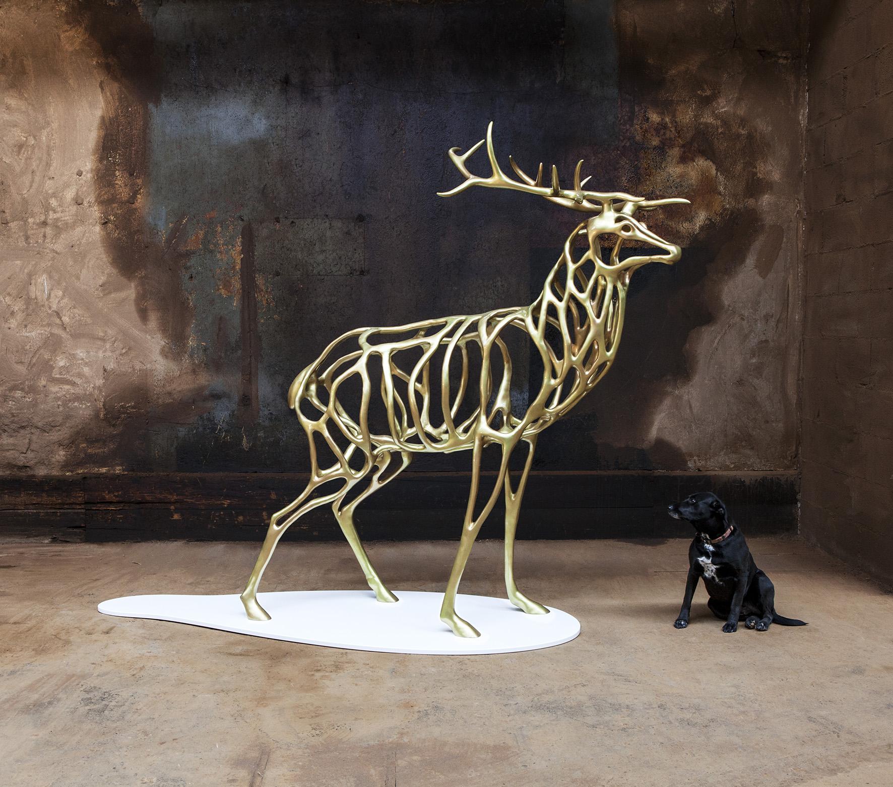 Richard Texier artiste sculpture  Deer 2015 - 200 x 221 x 100 cm_2