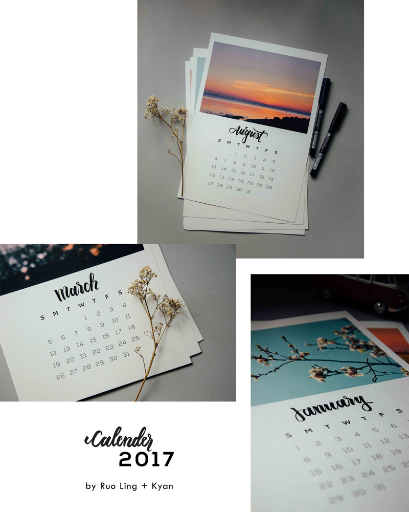 Calendar 2017 Preview | A Beautiful Distraction
