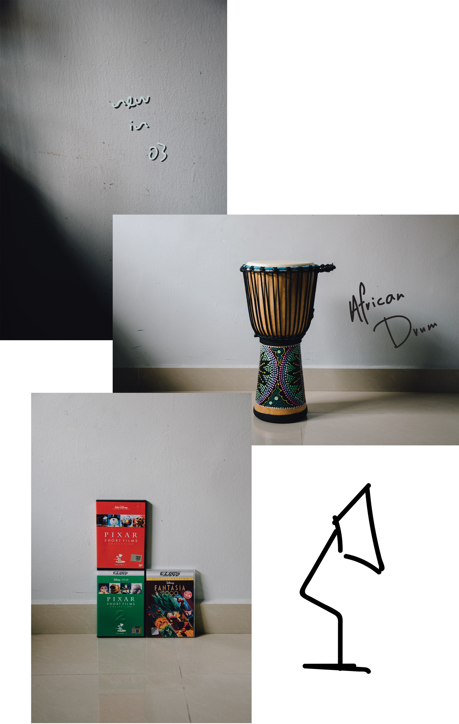 New In: African Drum + Pixar Short Films Collection Volume 1 + Pixar Short Films Collection Volume 2 + Disney Fantasia 2000 | A Beautiful Distraction