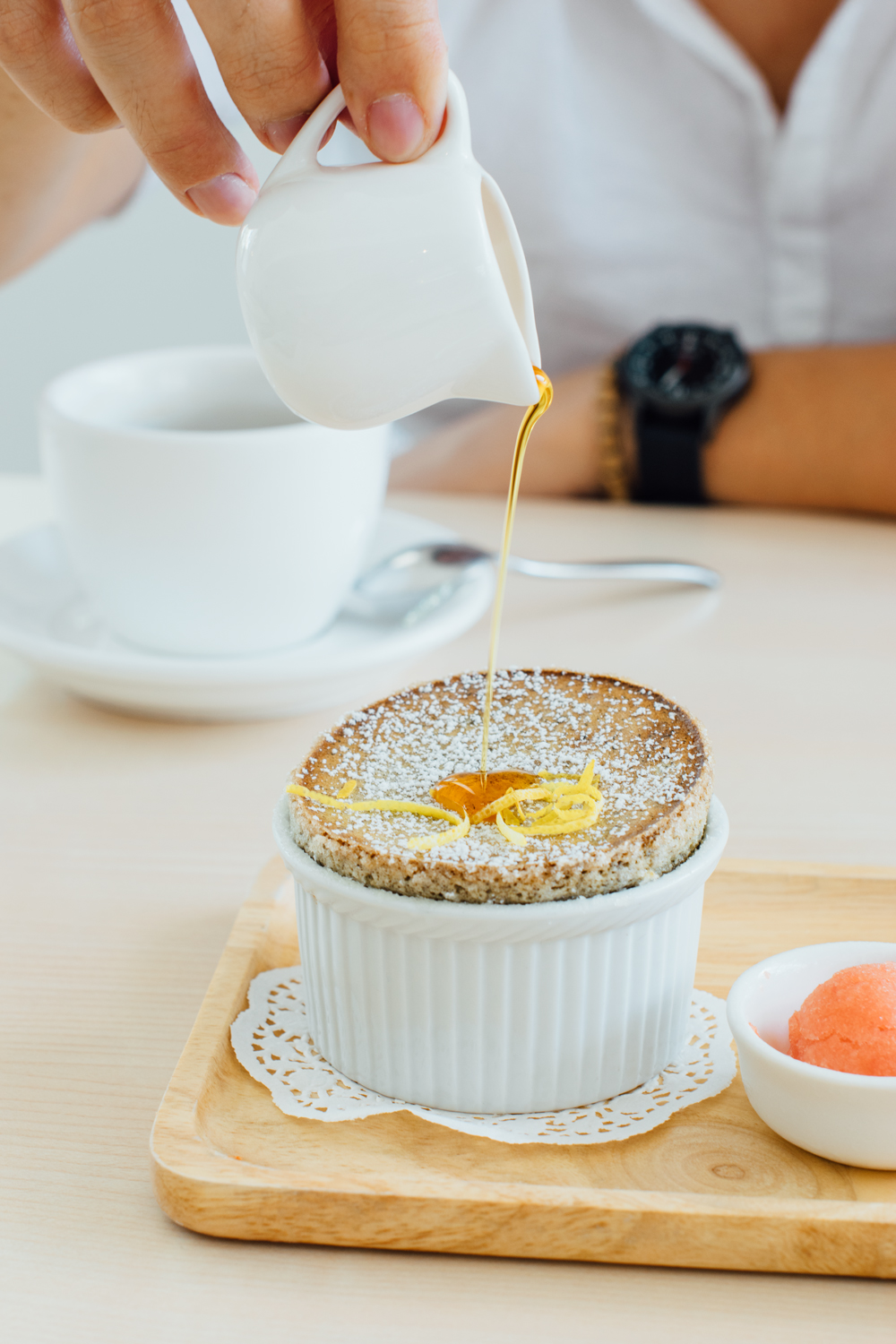 Hojicha Soufflé, Wild Sheep Chase Cafe, 2017 | A Beautiful Distraction