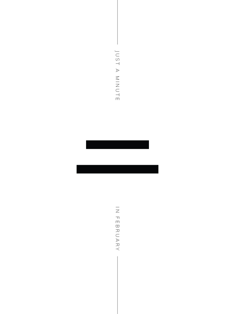 Just A Minute In February 2018 Minimal Poster | A Beautiful Distraction by Ruo Ling Lu