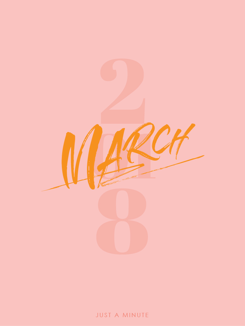 Just A Minute In March 2018 Pink | A Beautiful Distraction by Ruo Ling Lu
