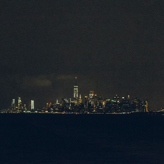 concrete jungle.  if you have nothin' better to do int he city that doesn't sleep at 3AM, take the States Island Ferry to see this. it's free and it runs 24/7.