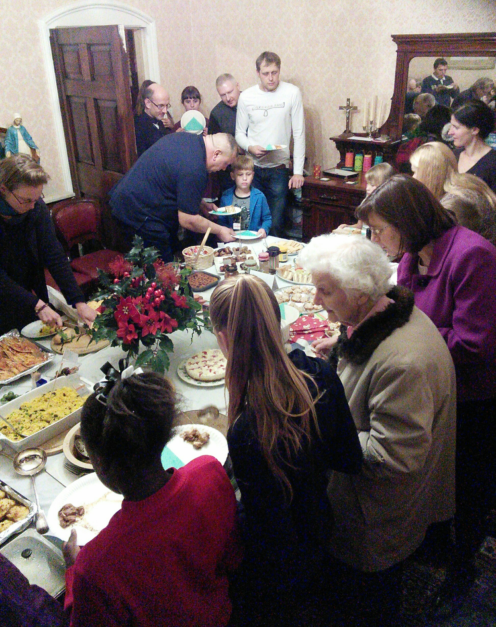 Gathering together people from every nation at our annual Meal of All Nations at Christmastime.