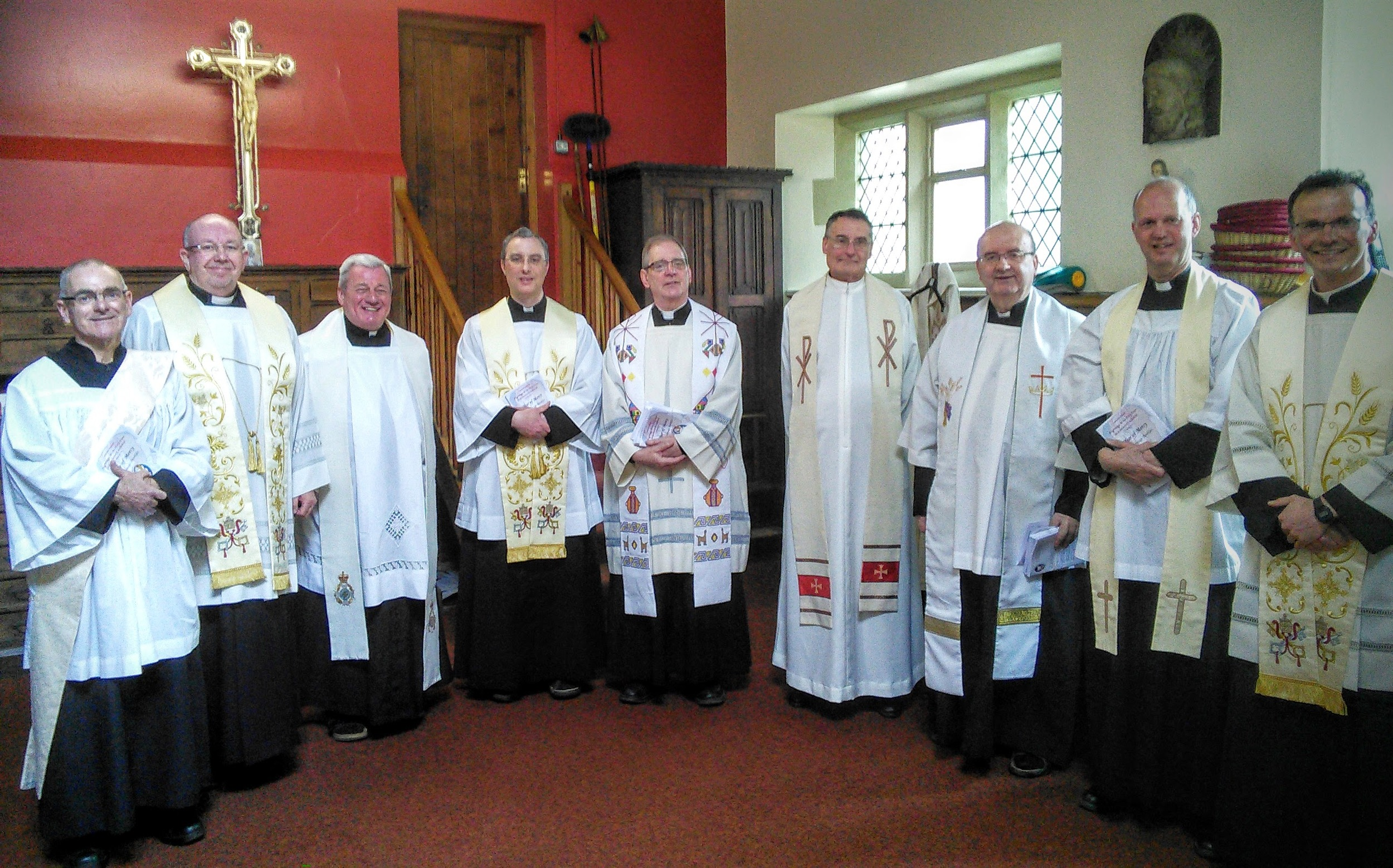 The Deanery Clergy in all their finery!