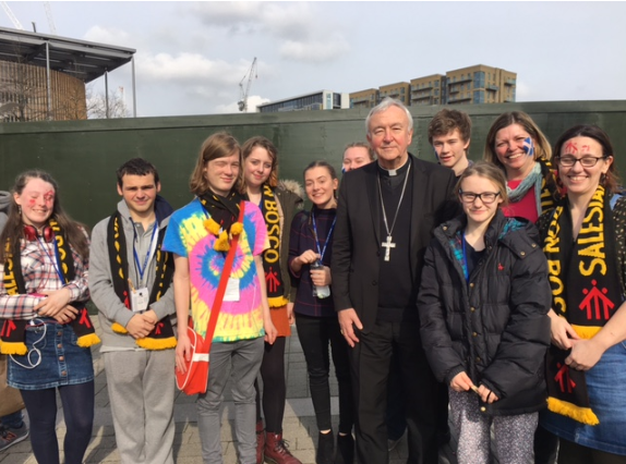 Students from Our Lady's with Cardinal Nichols