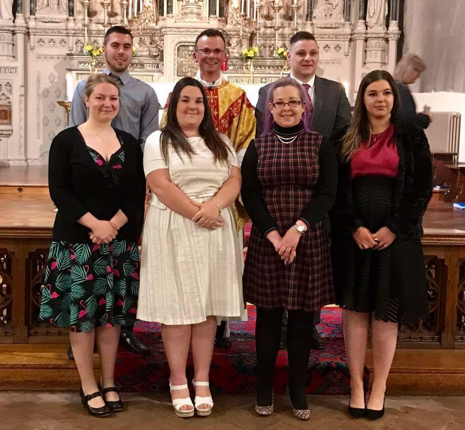 At the Easter Vigil, we were delighted to bring six young adults into full communion with the Church.