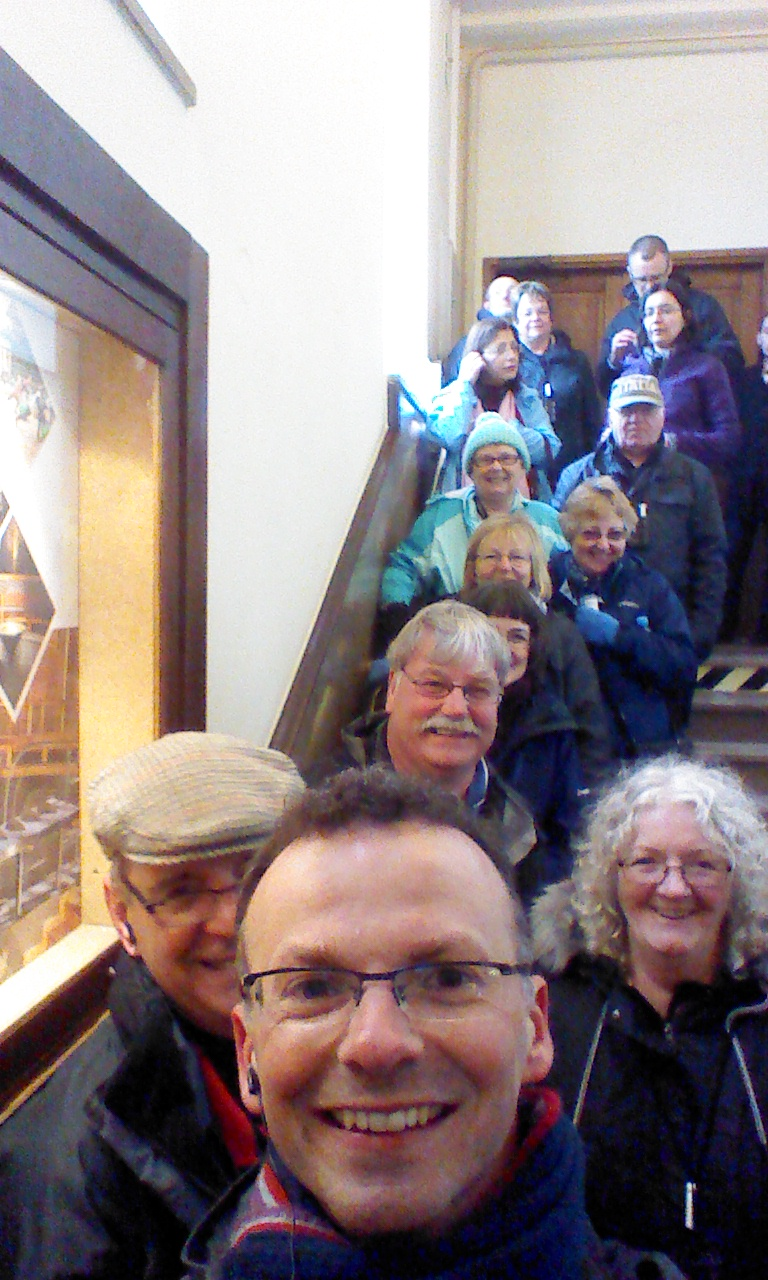 Where would a pilgrimage be without a selfie!