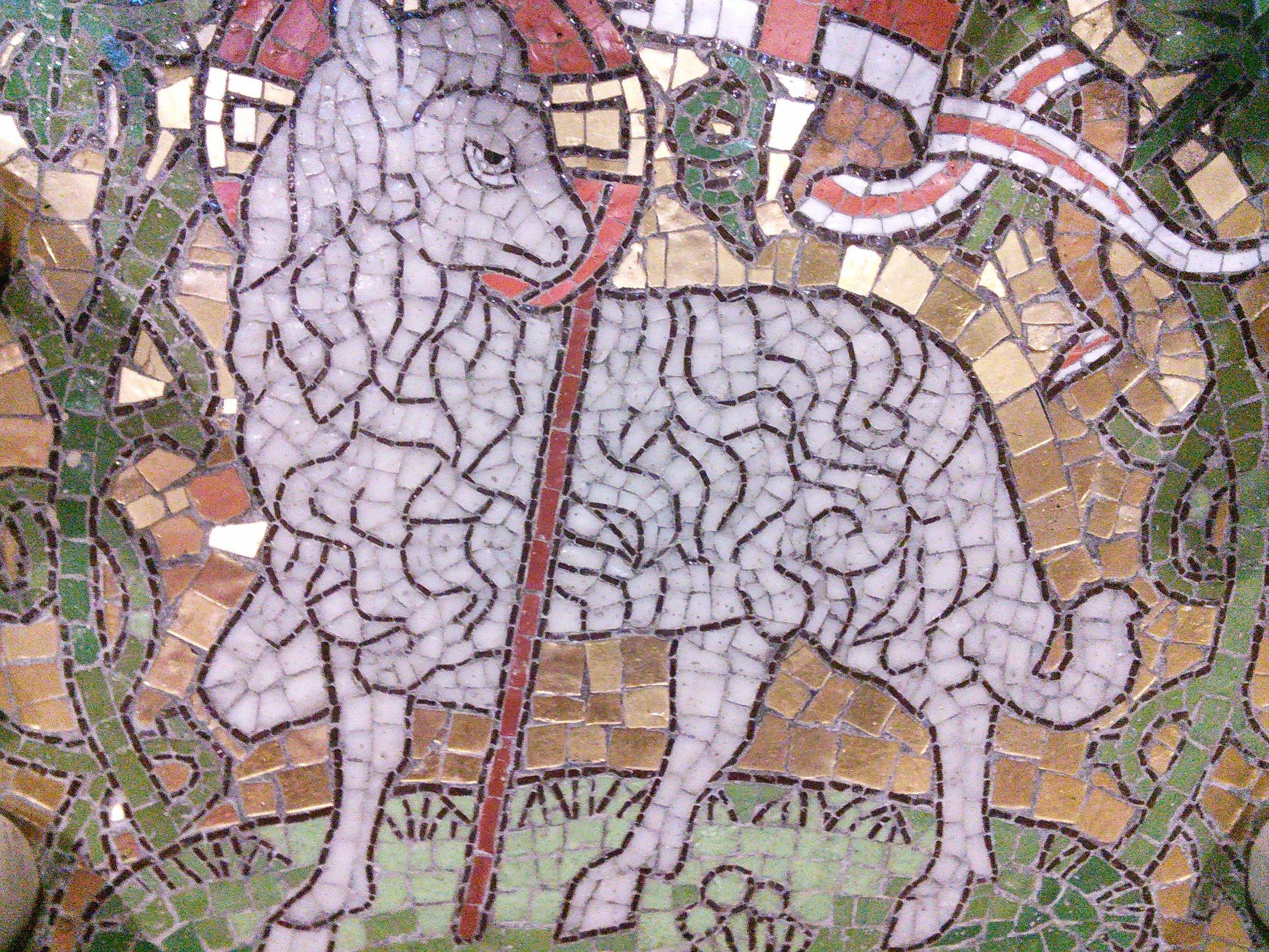 Mosaic of the Lamb of God