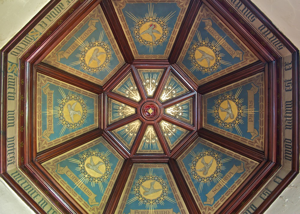 The roof of the baptistry