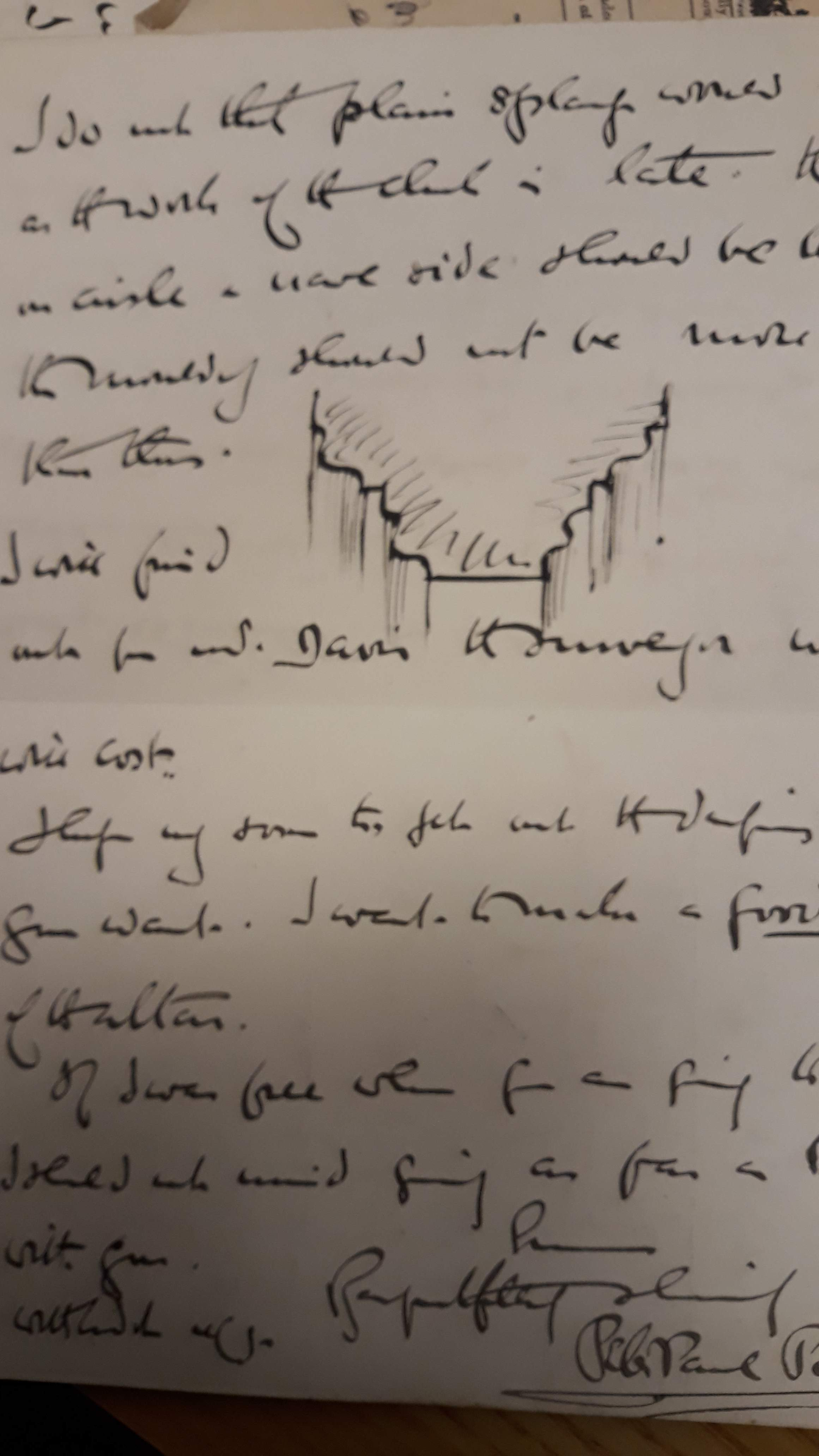One of Peter Paul's letters with sketch