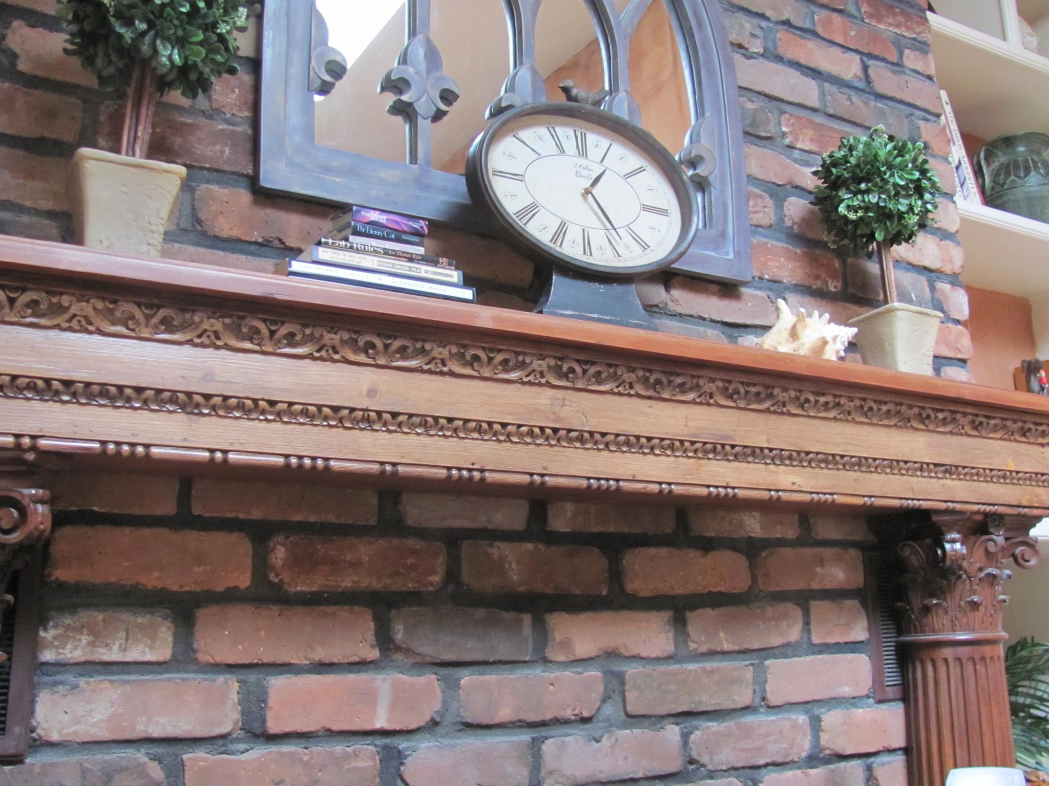 dennis-schorndorf-carved-wood-mantel