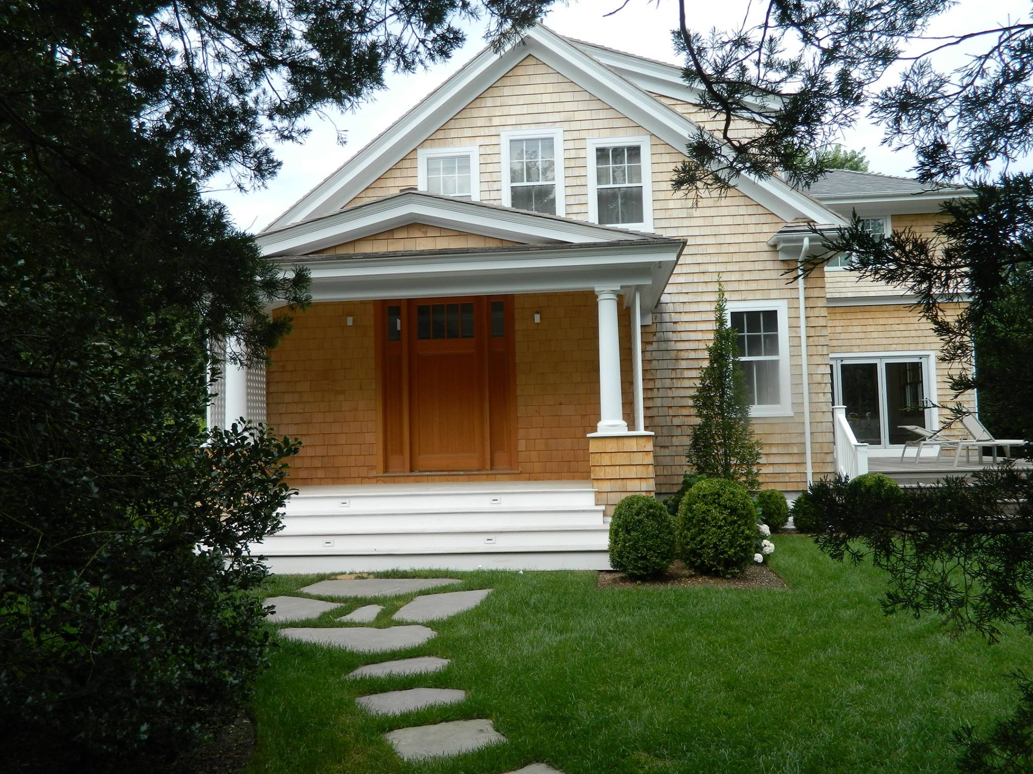 Completed front entrance Water Mill, NY by Dennis Schorndorf