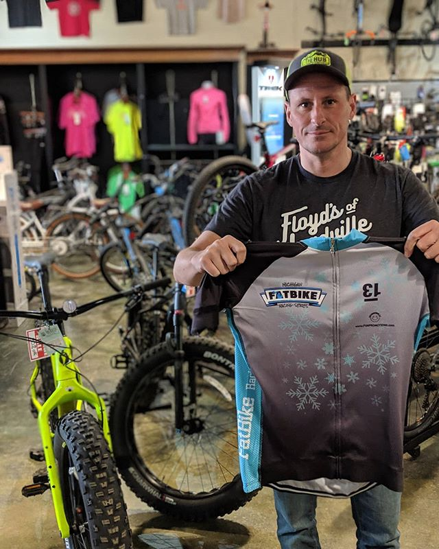 Congrats to Dennis Lessard on getting first place in the Michigan Winter Fat Bike series! . . #fatbike #winter #mtb #rad #timetoride #first
