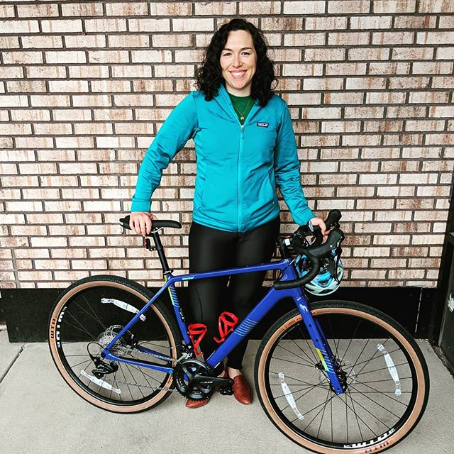 Congrats Tawny on your new @salsacycles Warroad!  Have fun crushing the roads and wherever the trail takes ya! . . #salsacycles #warroad #timetoride #shimano #shred #bicycle #roadbike #gravelbike #newbikeday