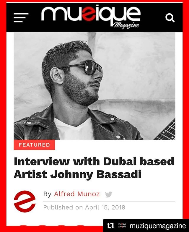 Happy to be featured and interviewed by @muziquemagazine .. Link in the bio!  #Repost @muziquemagazine (@get_repost) ・・・ #NewInterview with Dubai based Artist Johnny Bassadi. Read about Johnny Bassadi here on #MuziqueMagazine. . linkinbio👉 @muziquemagazine . Artist👉 @bassadi Contributor👉@alfredmunoz076 . For more interviews and news follow. 👉@muziquemagazine . . . #hashtag #beat #beats #bestsong #favoritesong #genre #goodmusic #instagood #instamusic #magazine #listentothis #love #lovethissong #melody #music #musicinterview #worldmusic #musicnews #indiemusic #repeat #songs #newmusic #musicpromo #indieartist #musicmagazine #indiemagazine #miami