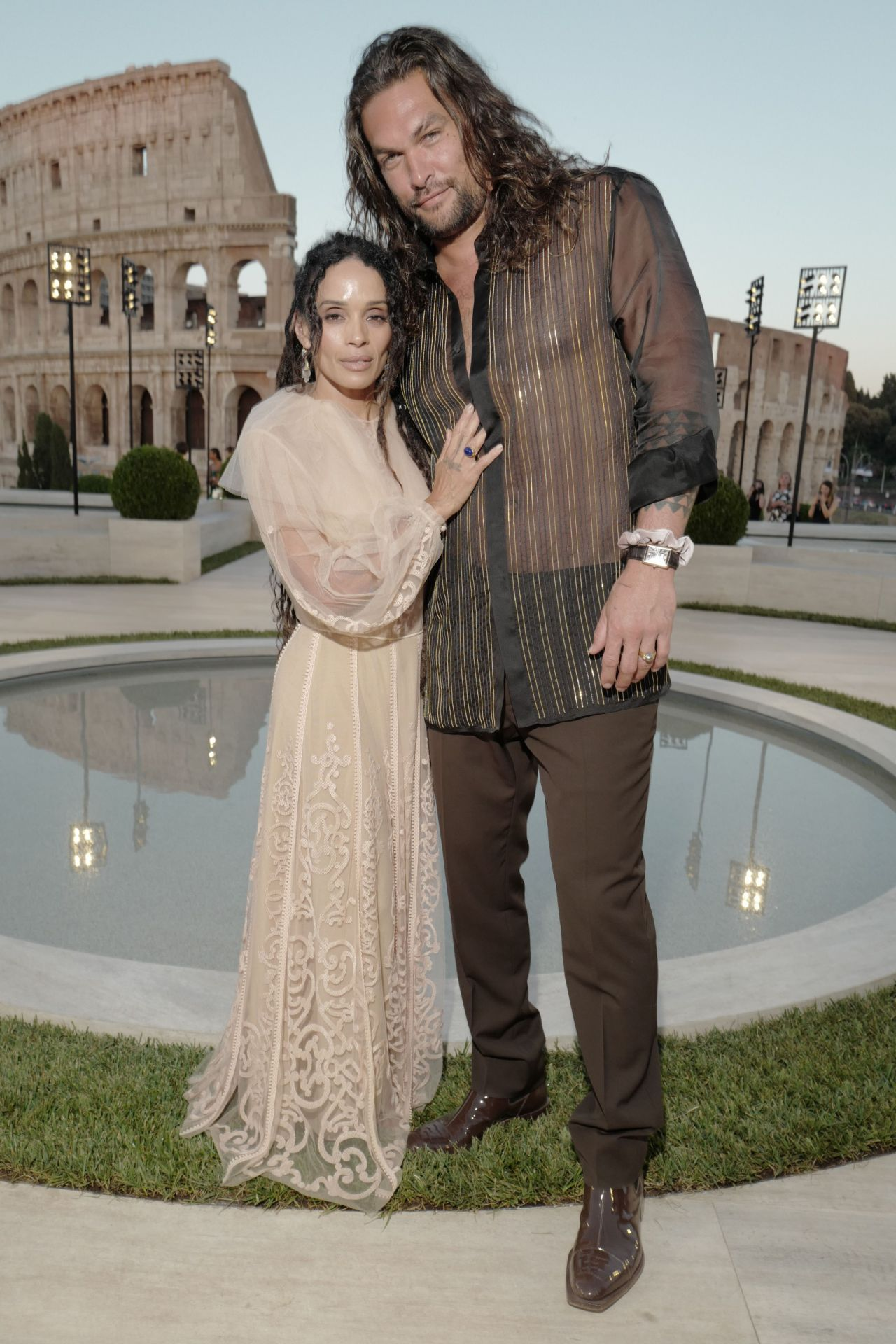 Show Lisa Bonnet and Jason Momoa at the Fendi Couture show  Source:  Celebmafia