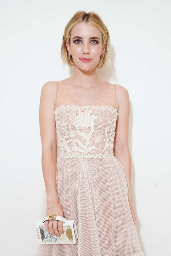 Emma Roberts wears Dior  Source:  Pinterest