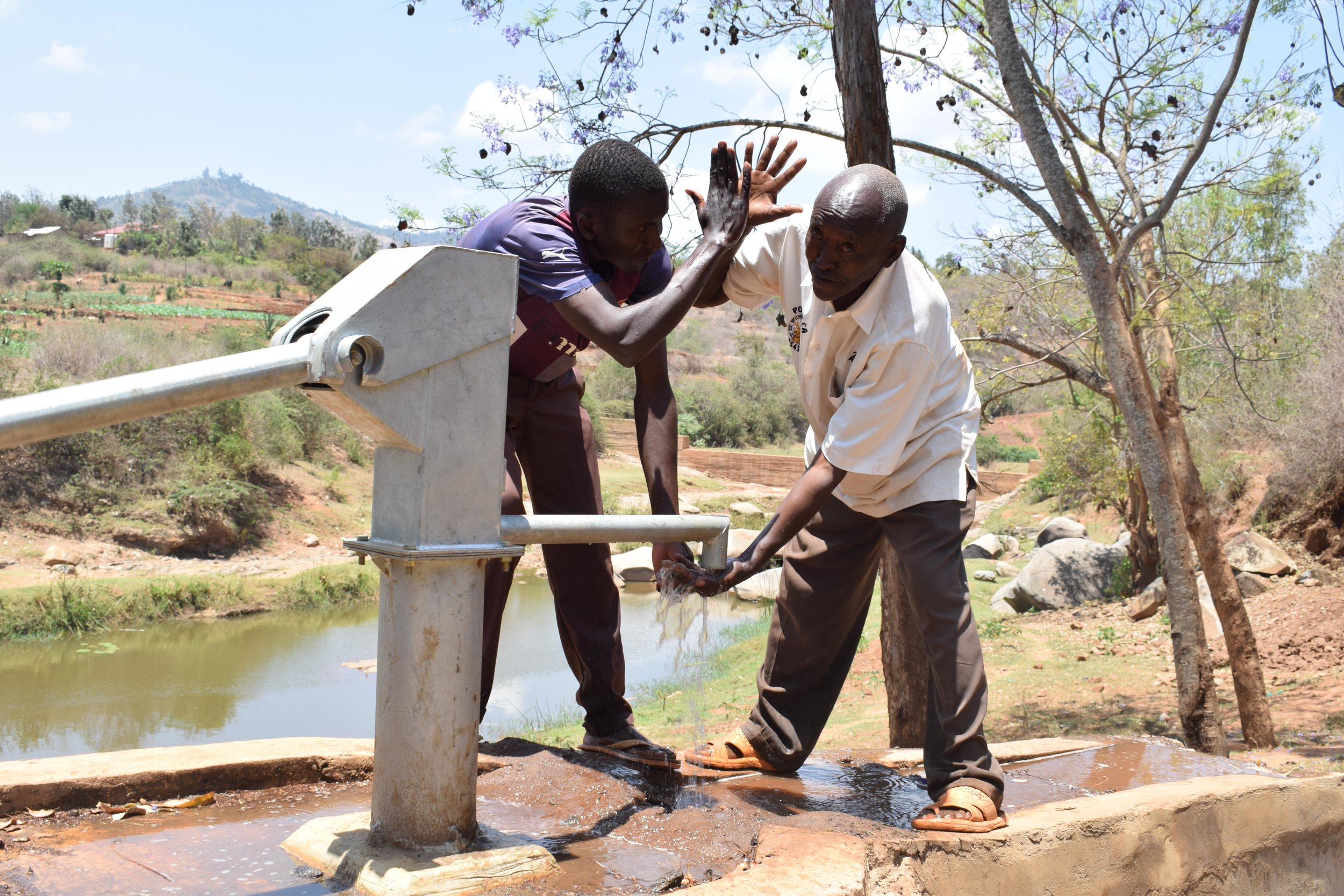 Being able to have access to clean water!