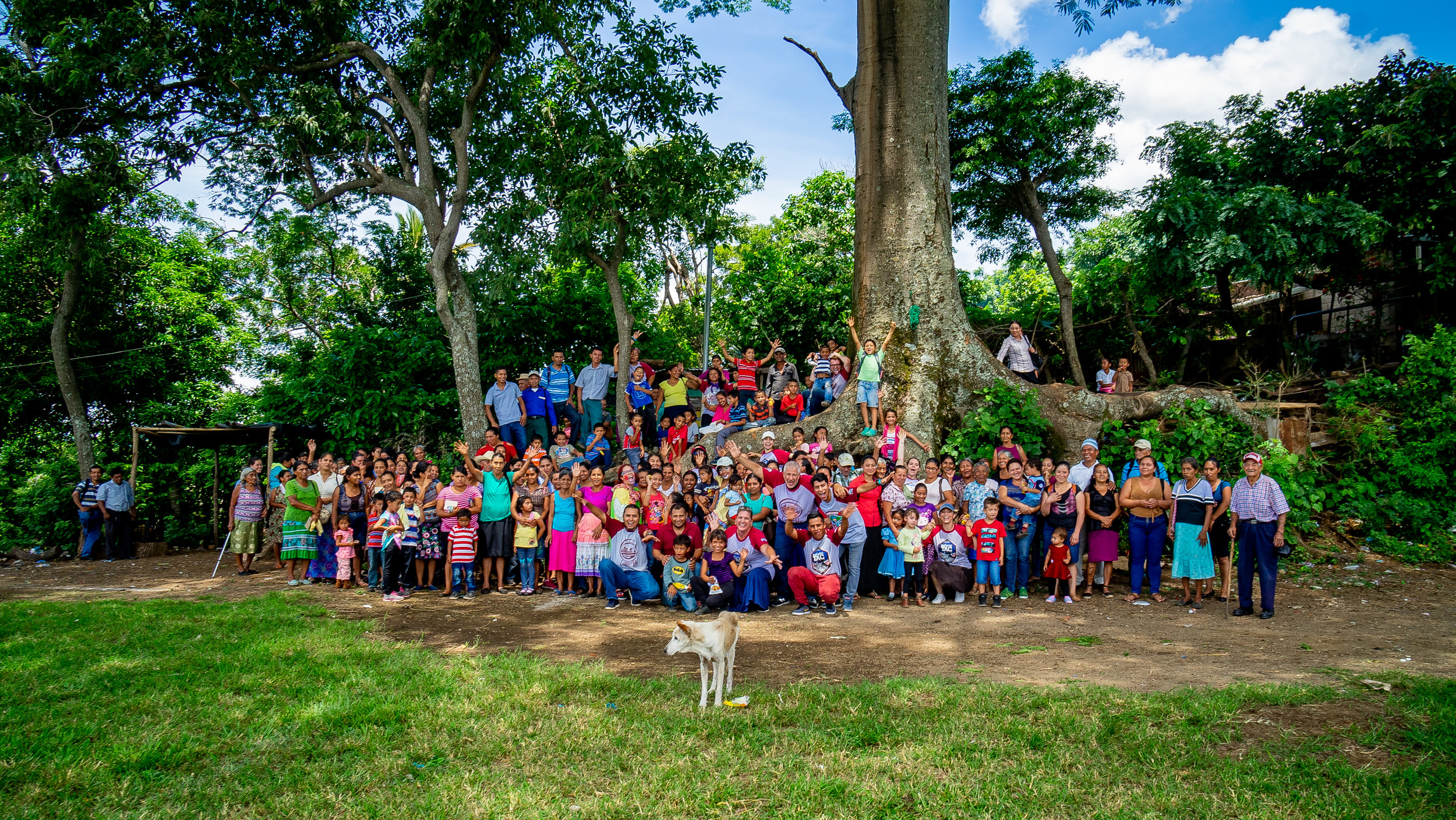 "The children and their families of one of the villages in El Salvador, that we support through "" You have a Steak in It "" We have be going here for 10 years and have watch many of these children grow up. It is a beautiful place with beautiful people."