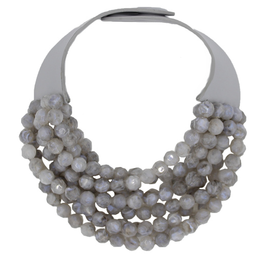 Bead Slate Grey Necklace $395