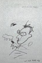 basquiat's drawing of haring