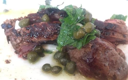 seared steak salsa verde