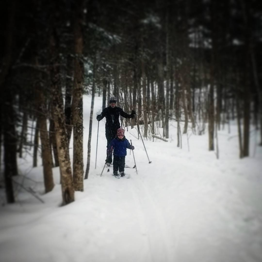 Skiing this month with my son in the north woods of Minnesota. One way to survive winter is to find ways to enjoy it.