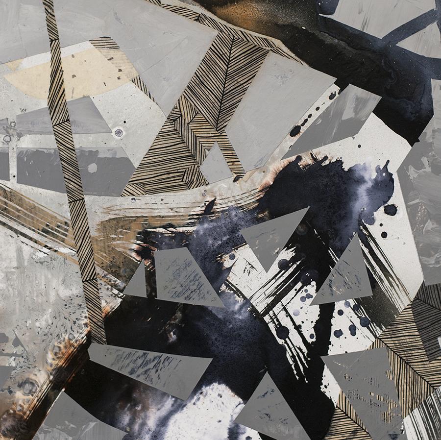 Detail of Erosion Series: Urban Grid #84