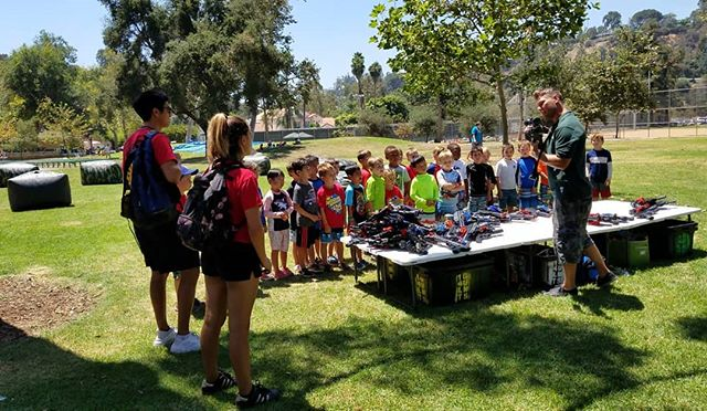 Every party package come with an event host. These party planners help at the event by teaching the players how everything works, teaches them to use the equipment, and does their best to make sure the players are safe and having fun.  We love our party hosts!