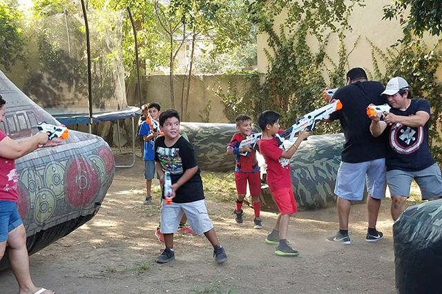Everybody is loving the new laser tag guns.  Kids vs Parents is always a popular game to end the day with.  #PartyXtreme #partyrentals #partyrental #nerf #lasertagparty #laseropspro #deltaburst💥💥💥 #Deltaburst #alphapoint #nerfwars #NerfLaserTag