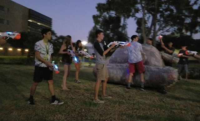 Had a really great time hosting laser tag at @calpolypomona  The lights on the #lasertagpro guns were bright and made for fun night games.  #deltaburst💥💥💥 #Deltaburst #alphapoint #OutdoorLaserTag #Nerf #nerfwars #nerfgun #PartyXtreme #partyrentals #partyplanner