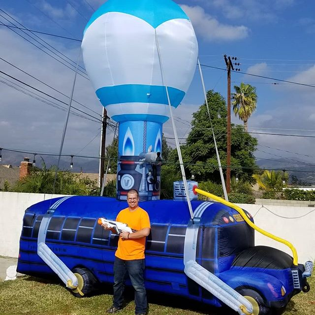 Fortnite Battle Bus is now available for all party packages!  This thing is giant at over 17 feet long!  Let the fun begin.  #partyrentals #partyrentallosangeles #partyplanner #party #partyxtreme #partydecorations #partytime #partykids #partyplanning #partypeople #fortnite #battlebus #lasertag #nerf #nerflaserops #deltaburst💥💥💥