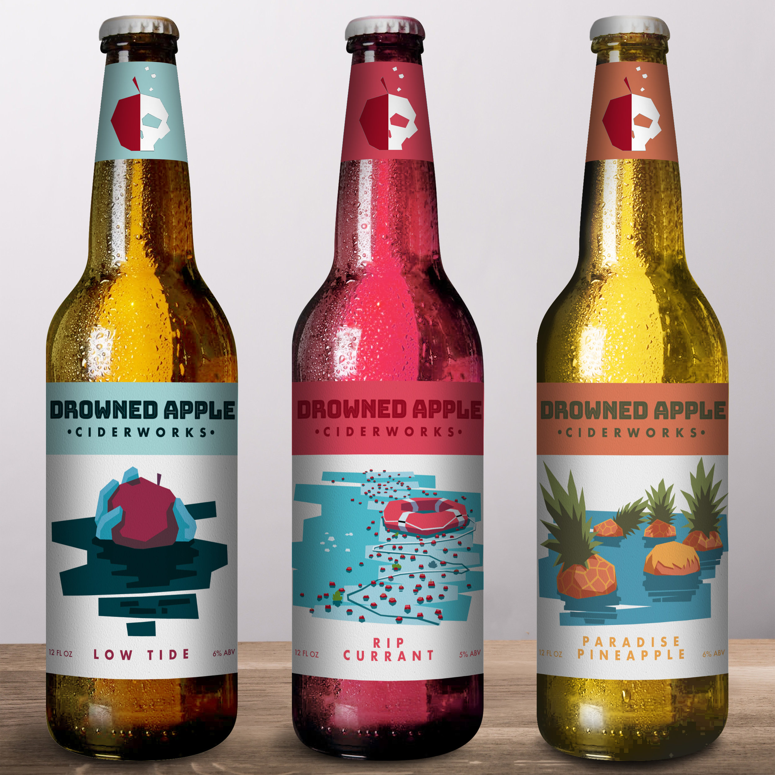 Drowned Apple Ciderworks - Beverage branding project