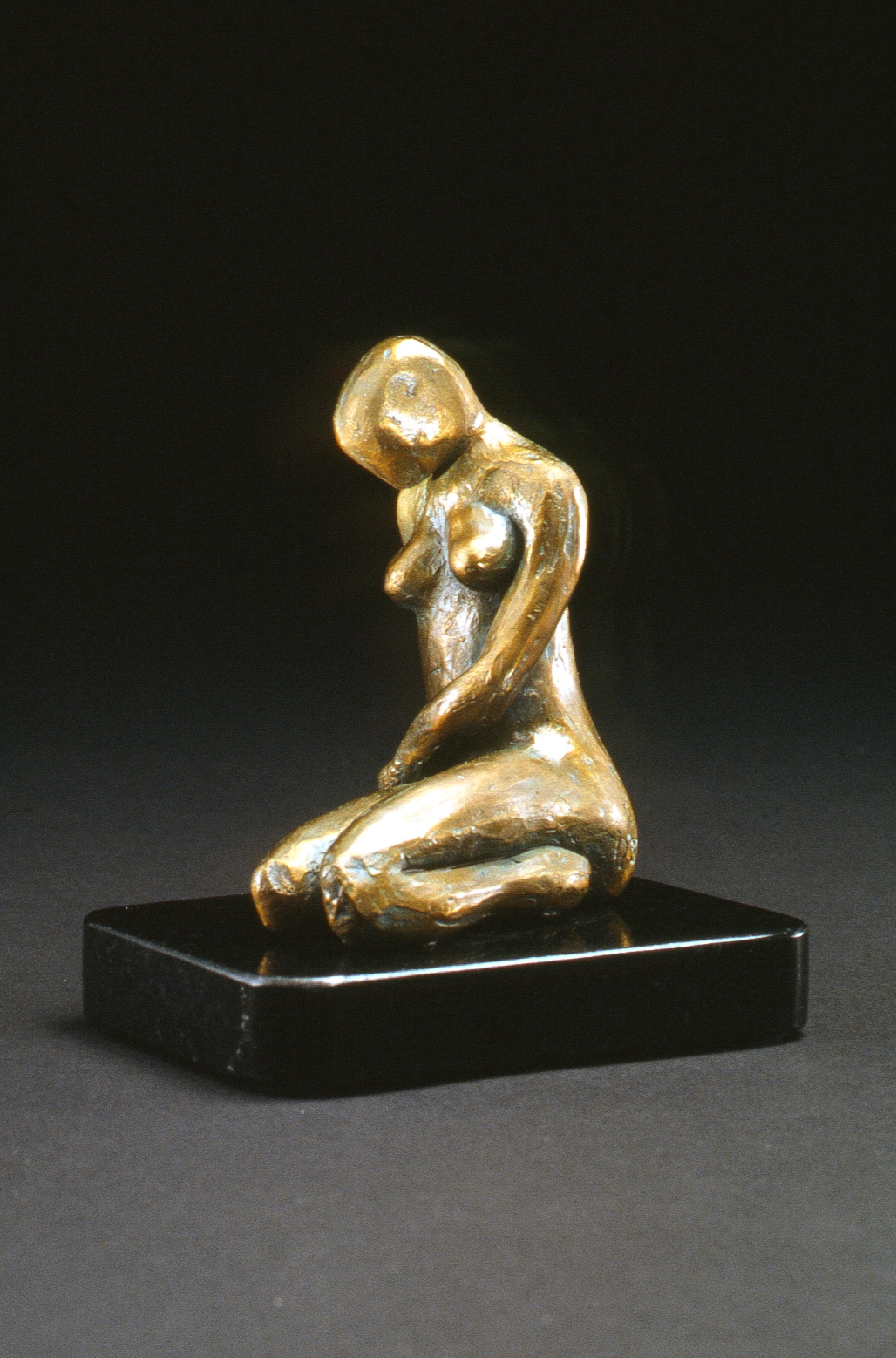 La Femme Assise (1999) Bronze, Edition: 30, 5.6x3x3in. $950
