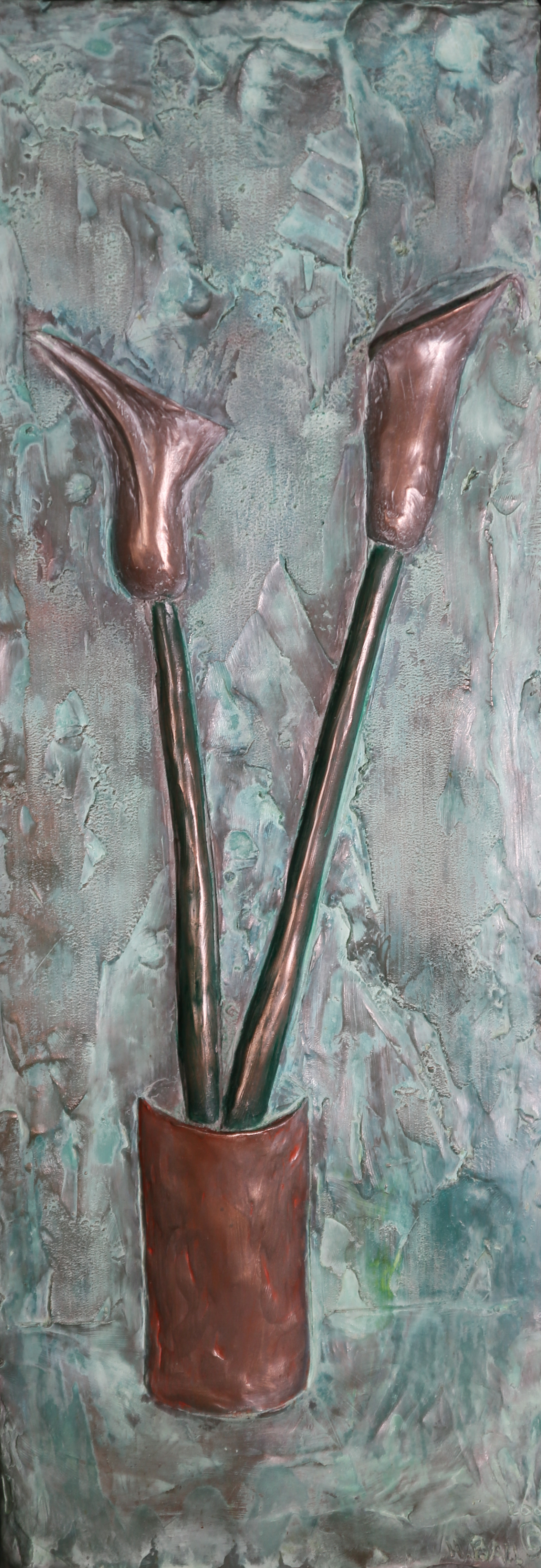 Calla Lilies (2001) FMG Bronze, Edition: 30, 21.5x7.5x1.75in. $950