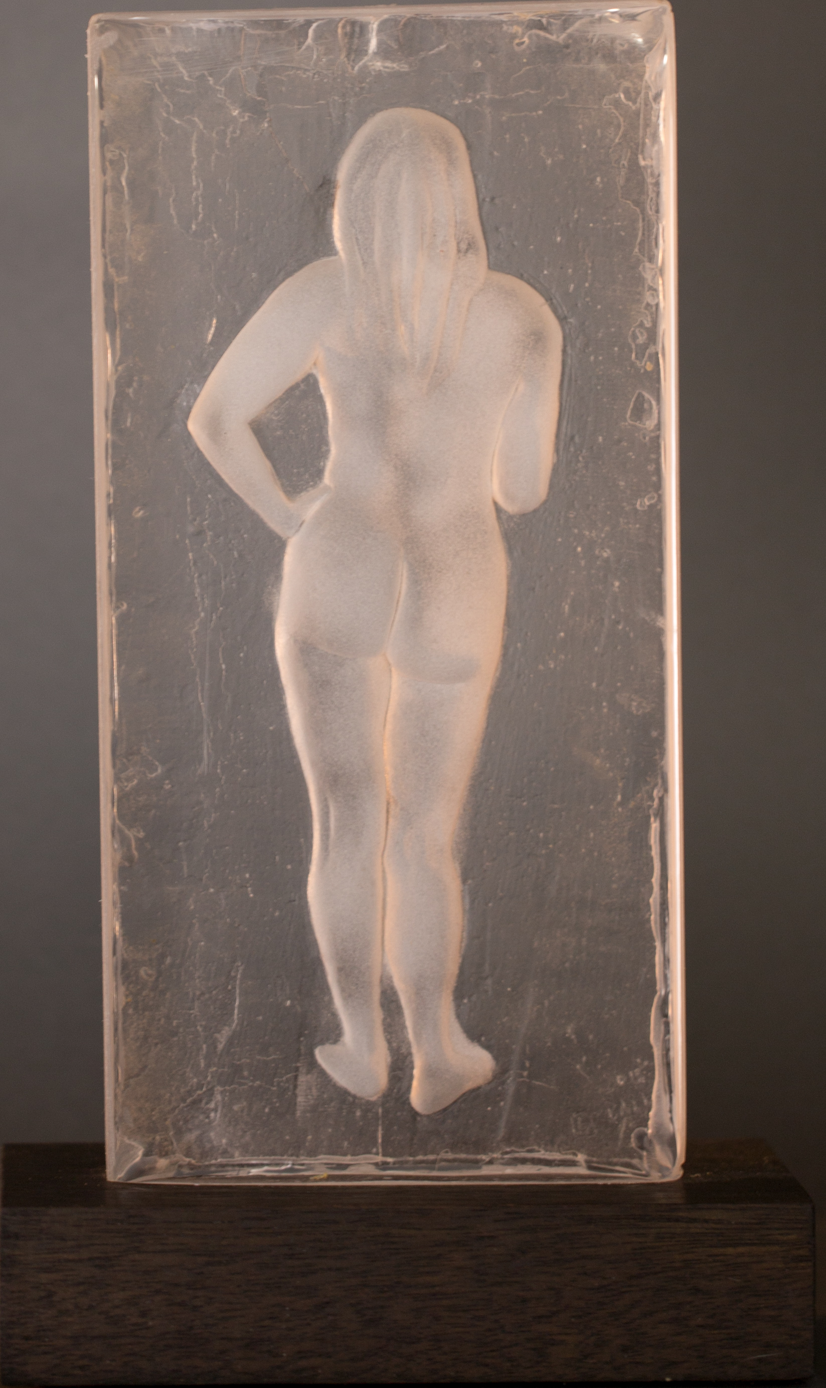 Mireille 2015 Clear Resin, Edition: 30, 12x6x1.75in. $1,350