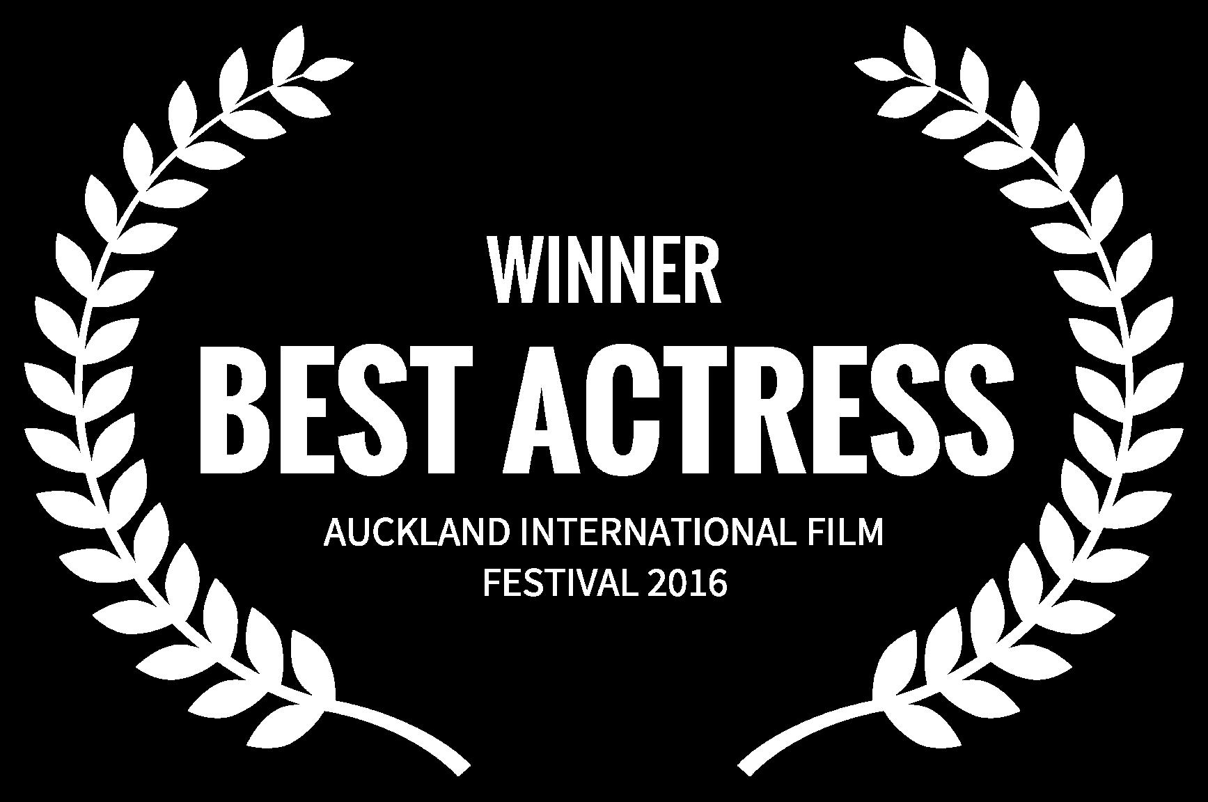 WINNER - BEST ACTRESS - AUCKLAND INTERNATIONAL FILM FESTIVAL 2016 (1).png