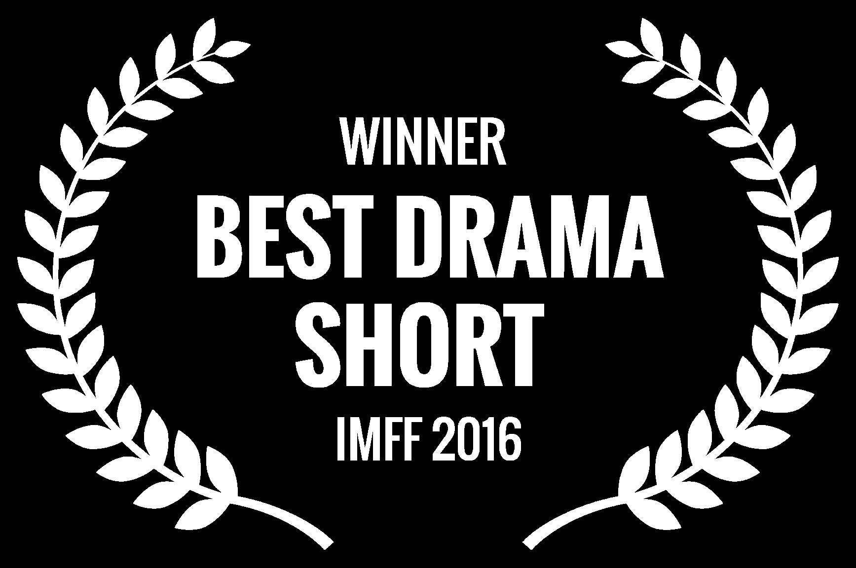 WINNER  - BEST DRAMA SHORT  - IMFF 2016.png