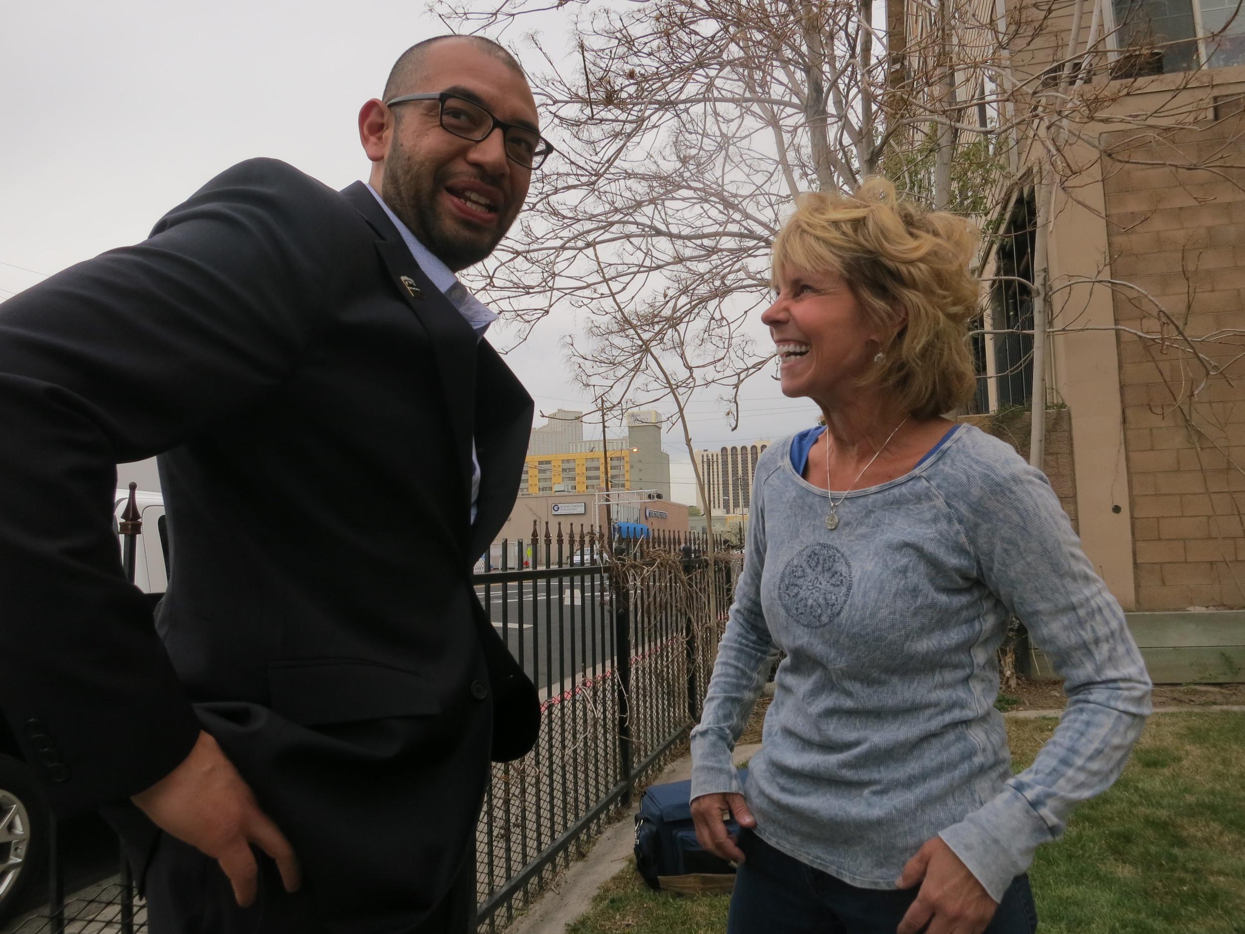 Supportive politicians like City Councilman Oscar Delgado showed up.