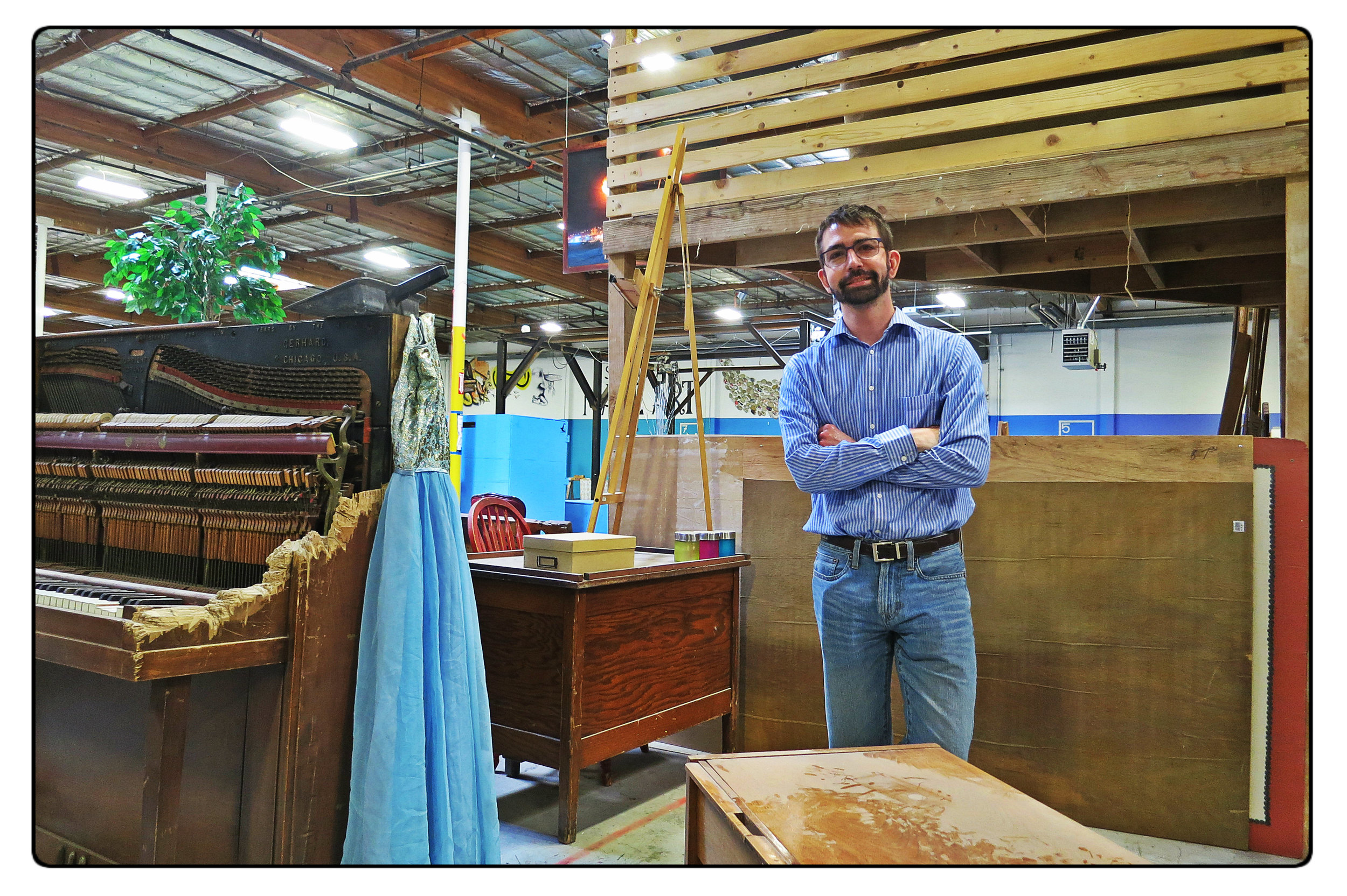 Jay has a six by seven space at the Generator art space in Sparks where he intends to build a neighborhood library.