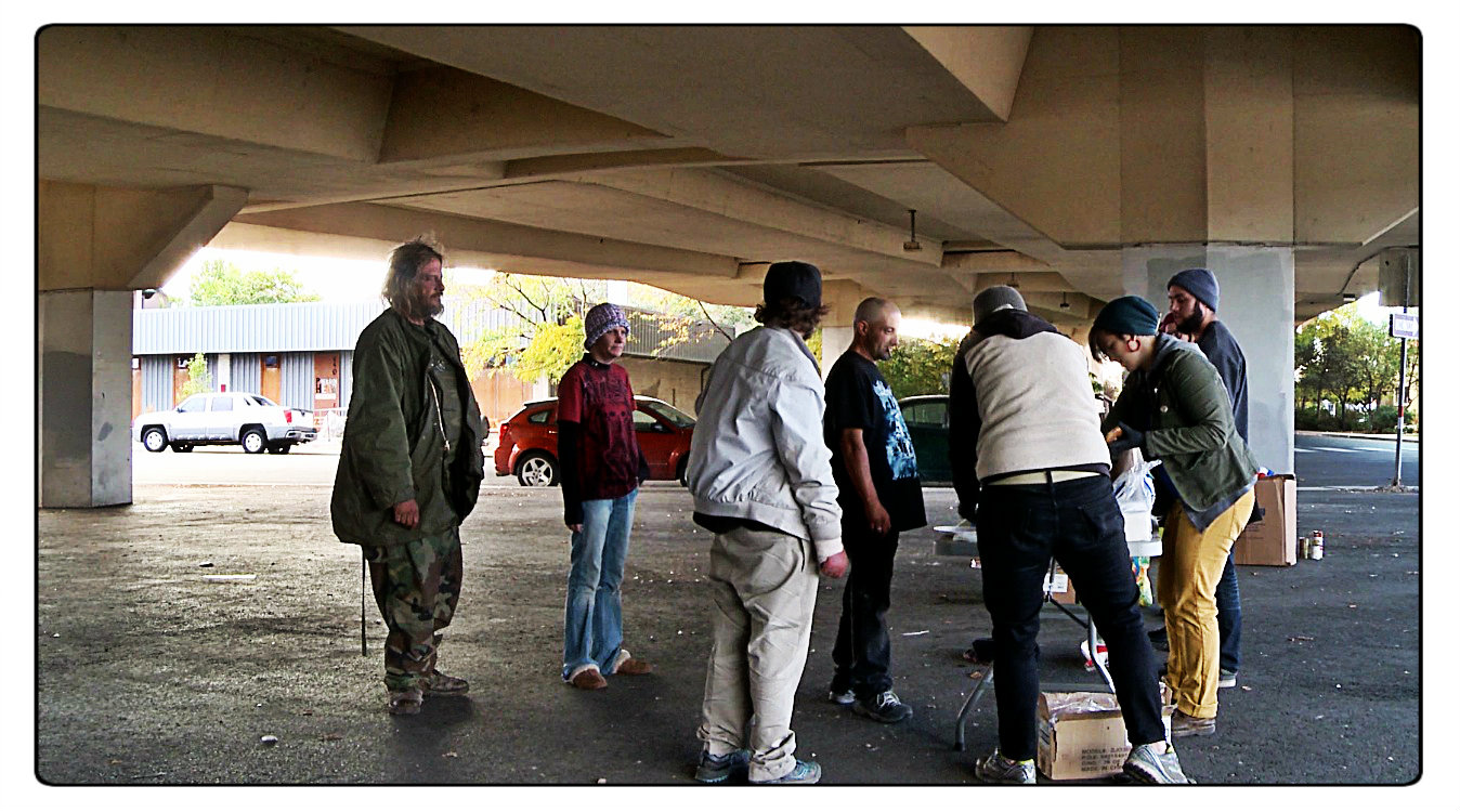 Jay believes there should be more services and available shelter for the area's disadvantaged. This area under a Wells Ave. bridge was recently fenced off to prevent homeless from sleeping there.