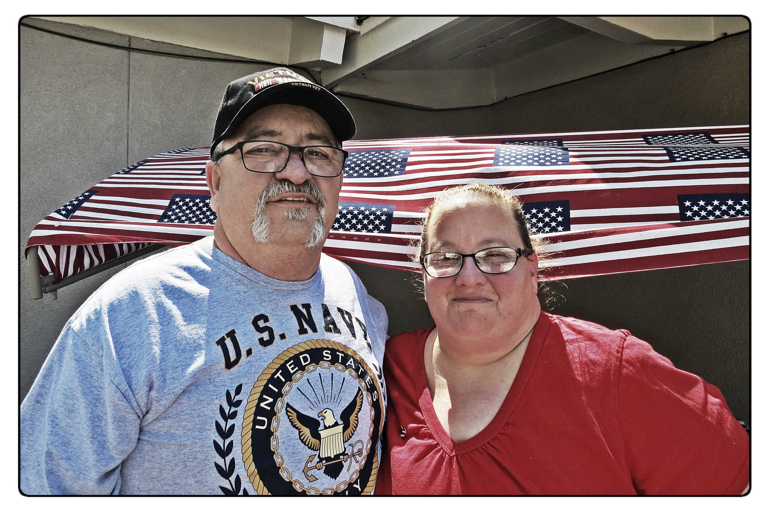 The Mellos, outside their home in Sparks, say they give each other the courage to help homeless veterans.