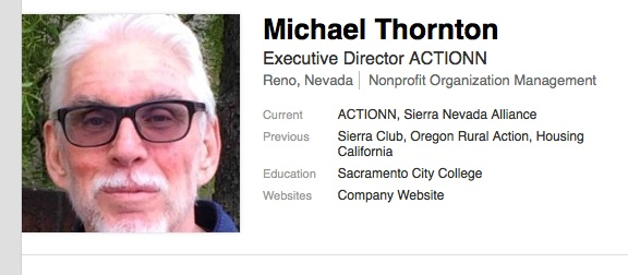 Screengrab from Michael Thornton's LinkedIn. Thornton has an extensive background in community organizing and dealing in issues of displacement.