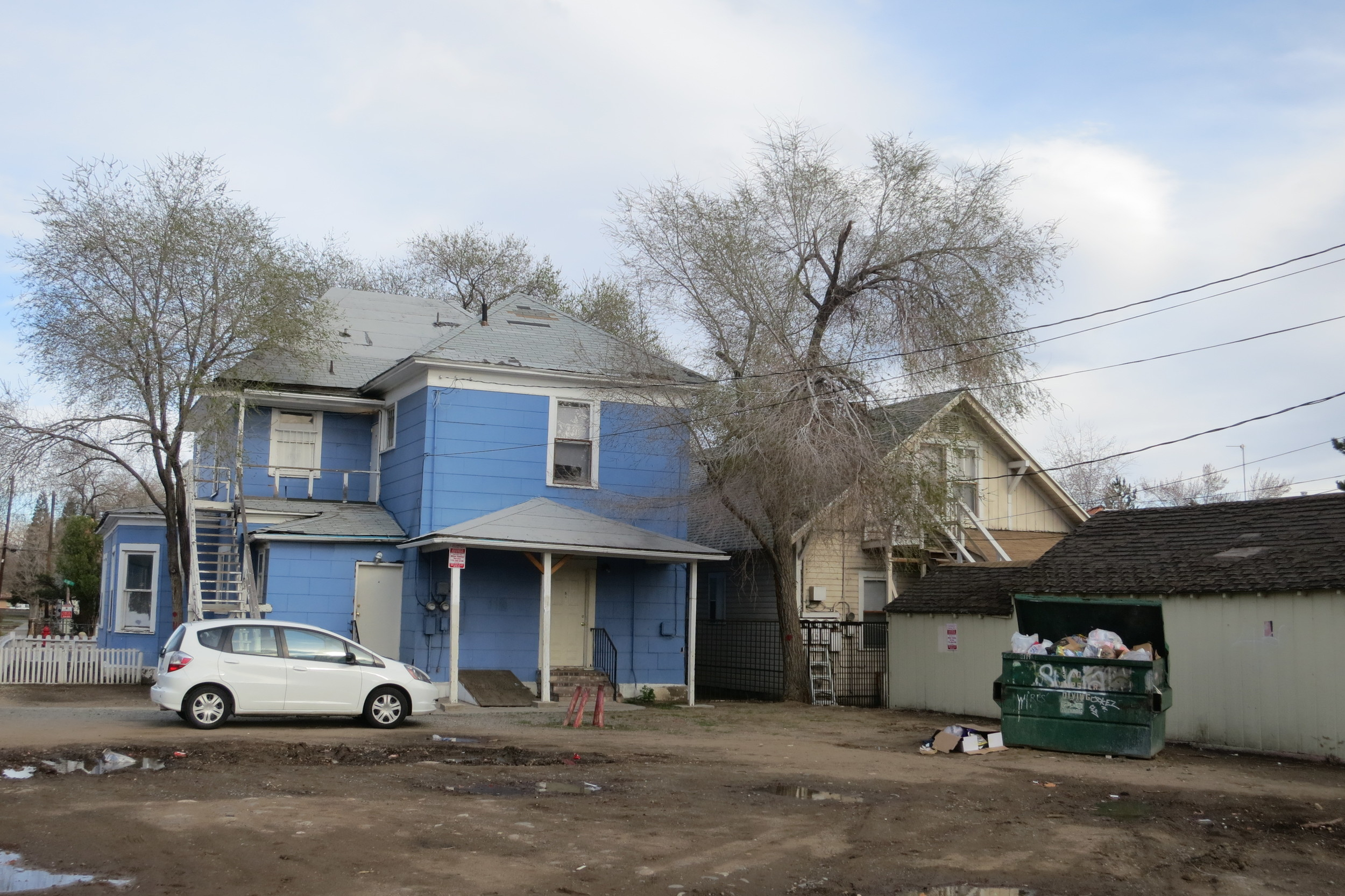 Thornton says he understands Reno needs to be revitalized in certain areas, but that this revitalization needs to be done with thought for the people now living there and smart planning. This is part of the block which will soon be demolished. Photo from earlier this year.