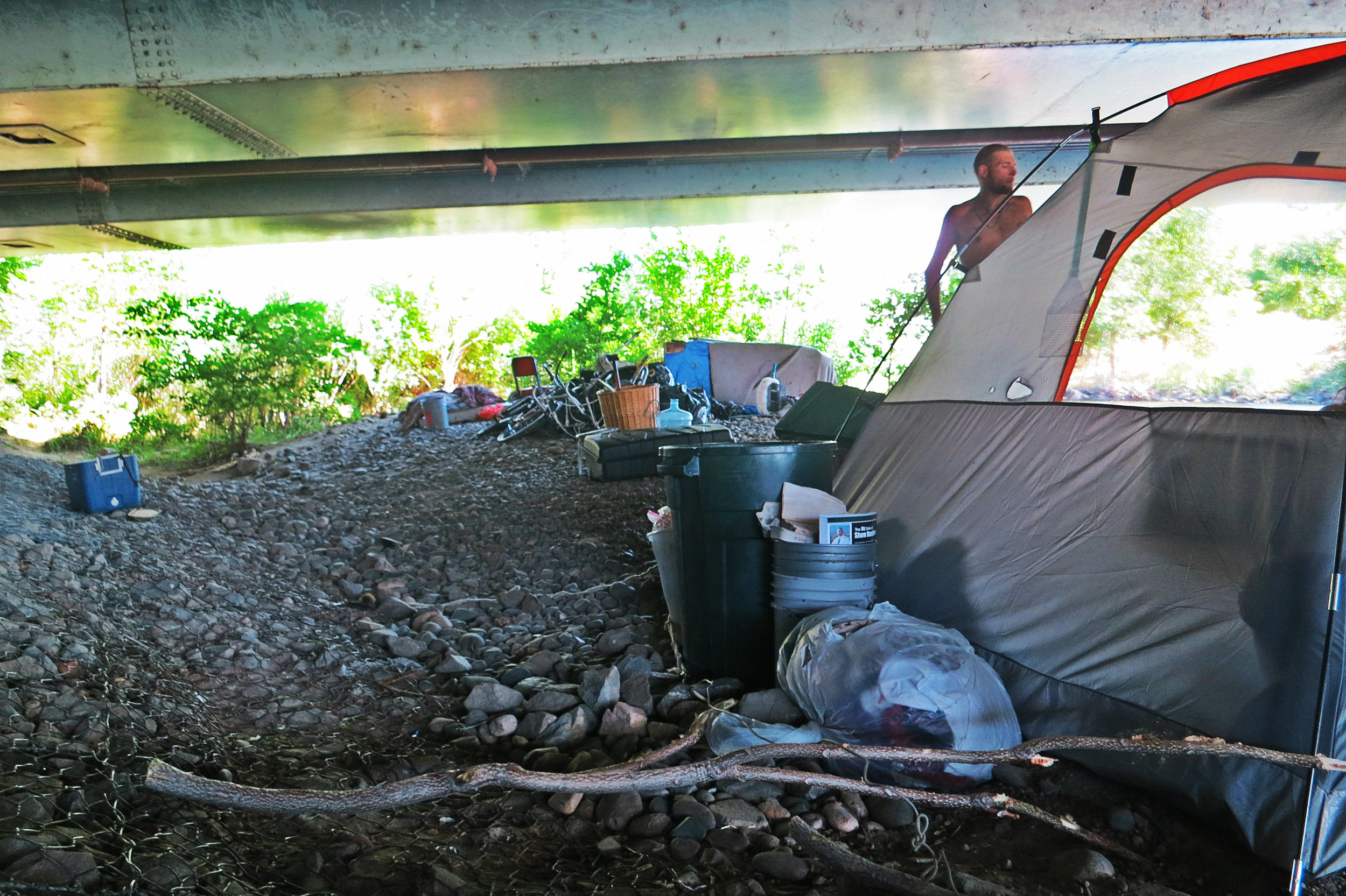 Many homeless here say they rip up the citations they receive. They say they keep the area clean, and want to be left alone. July 4, 2016