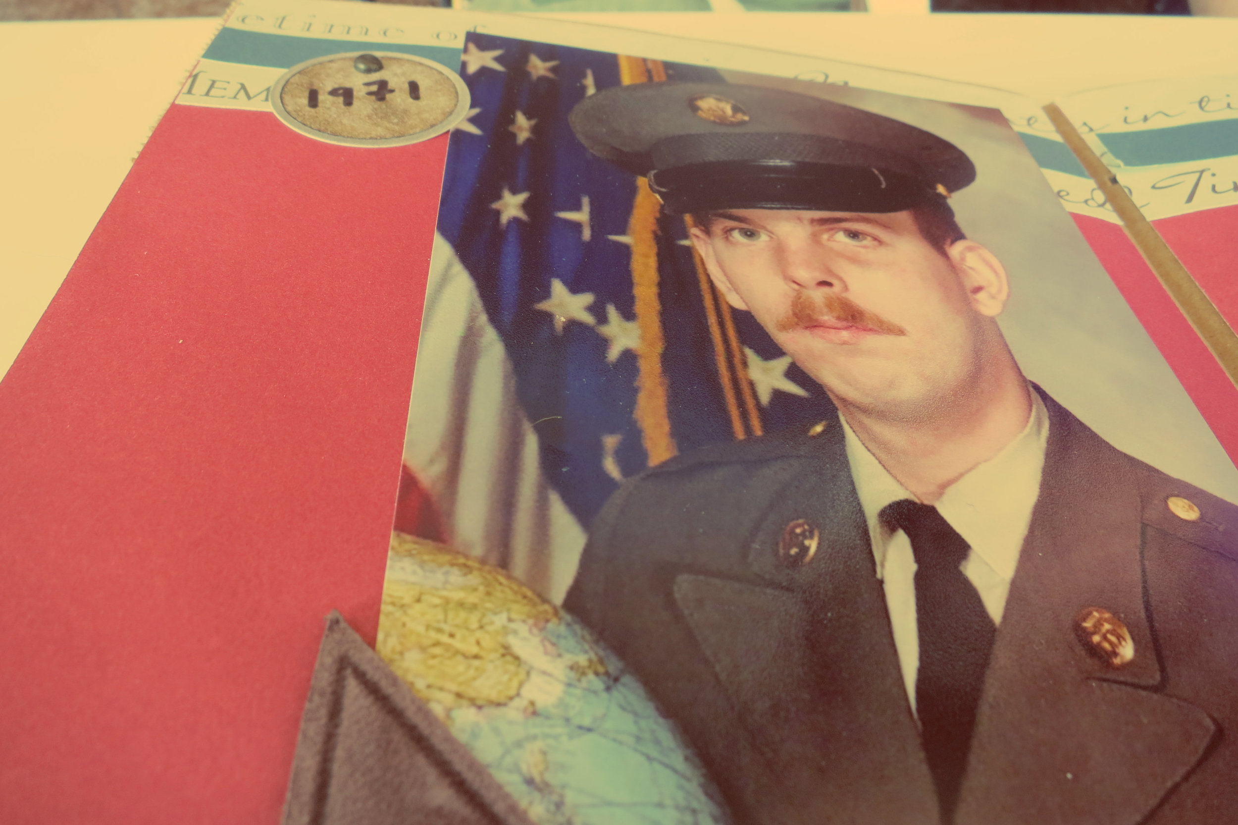 A picture Bean keeps of her Dad of when he was in the service before being medically discharged.