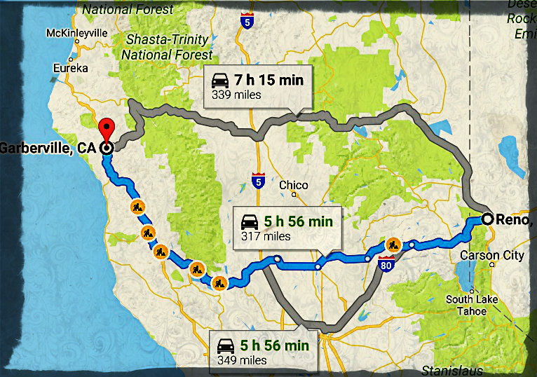 His next road trip should be shorter and will hopefully lead to seasonal work in a pot farm near Garberville, CA.