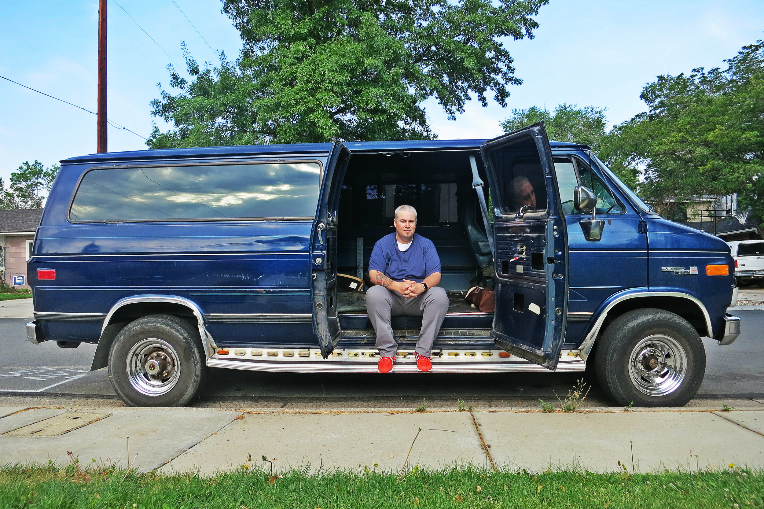 """An old van is my new best friend, my dwelling or someone else's,"" Seth explains, as he has embarked on renovating old vans for others to use while sleeping in one himself."