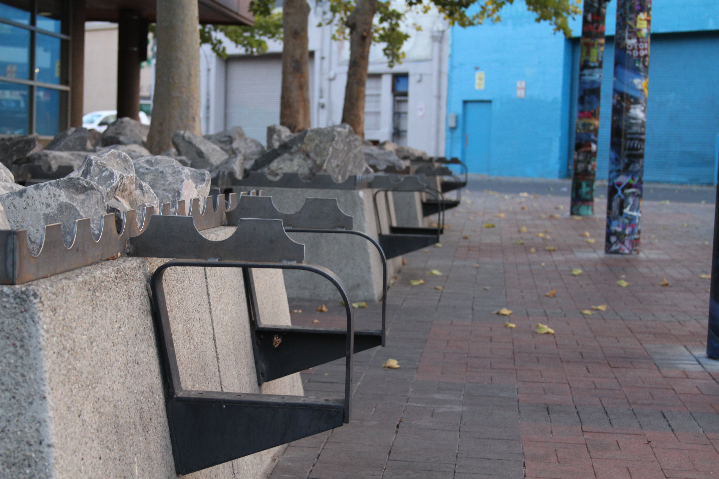 "When asked by a Reno citizen why the benches were taken out, this is what    the city's Parks Manager was quoted as saying through the Reno Direct program:  "" The benches at City Center have been temporarily removed due to high level of homeless staying there all day and pan handing people passing by. City Hall had received complaints from the downtown casino's (sic) and the bowling stadium. City Manager, R.P.D. and Code Enforcement made the directive to remove them. They are being stored at the Corporation Yard.""  photo by Jose Olivares"